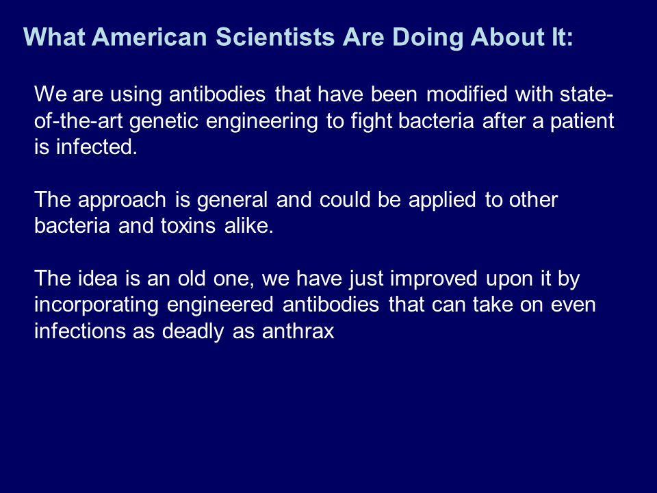 What American Scientists Are Doing About It: