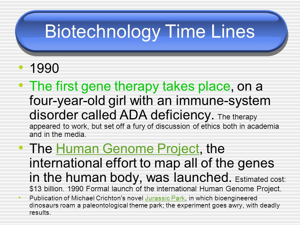 Biotechnology Time Lines