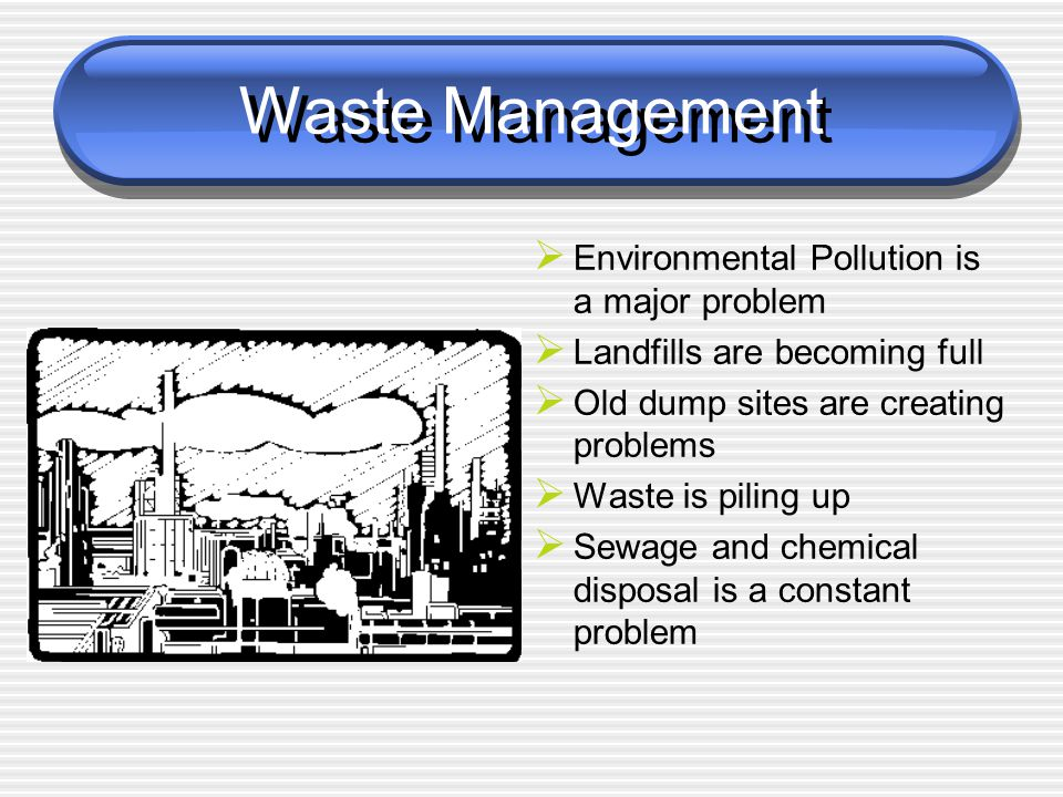 Waste Management Environmental Pollution is a major problem