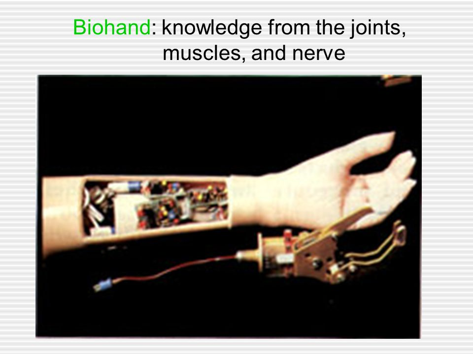 Biohand: knowledge from the joints, muscles, and nerve