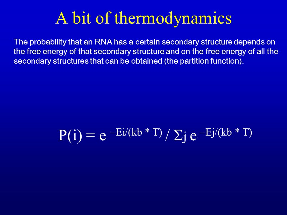 A bit of thermodynamics