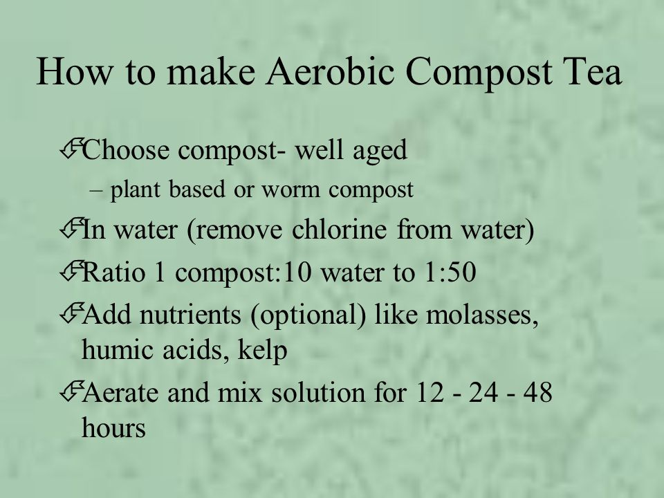 How to make Aerobic Compost Tea