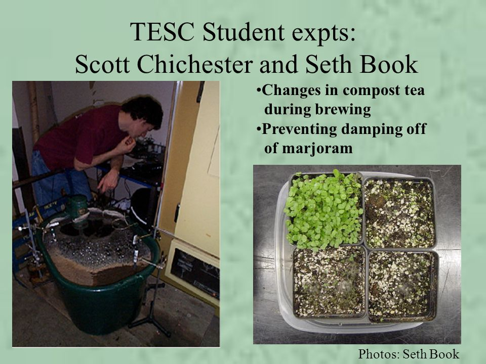 TESC Student expts: Scott Chichester and Seth Book