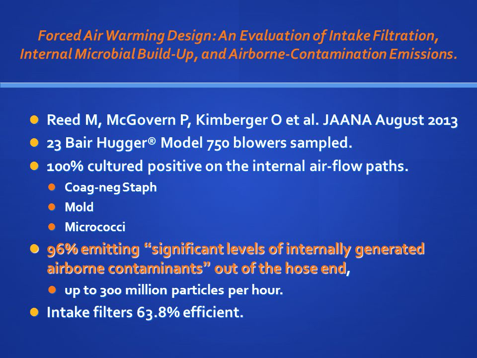 Reed M, McGovern P, Kimberger O et al. JAANA August 2013