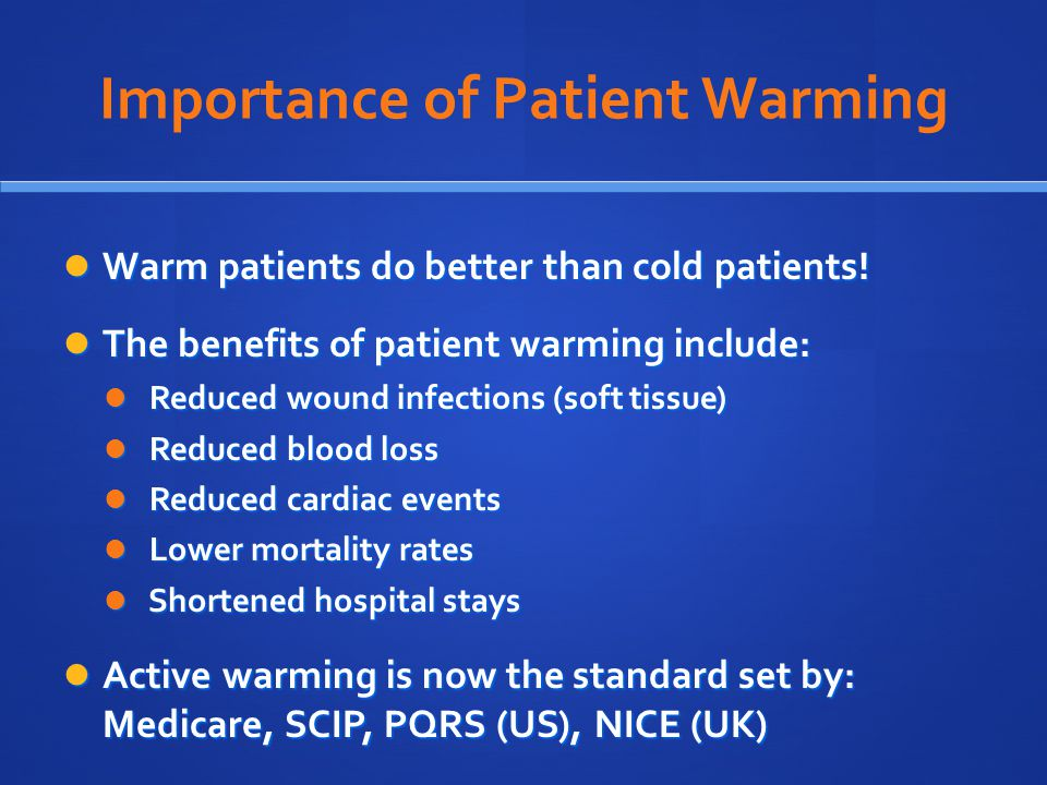 Importance of Patient Warming