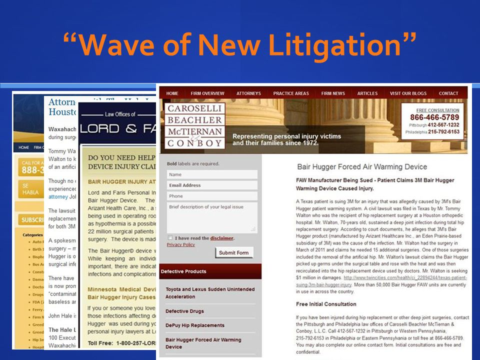 Wave of New Litigation