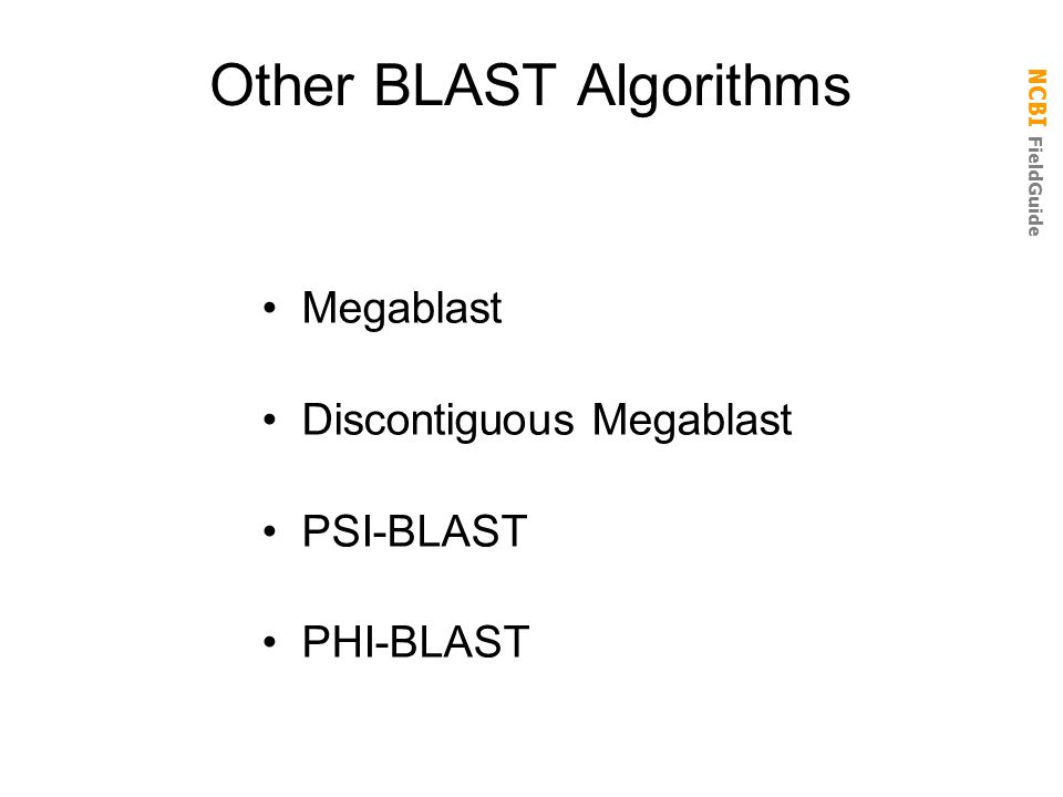 Other BLAST Algorithms