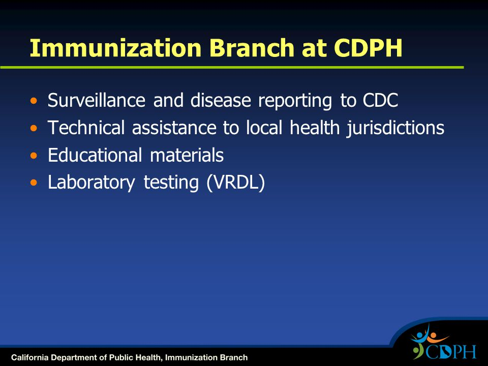 Immunization Branch at CDPH