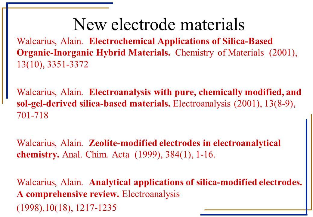 New electrode materials