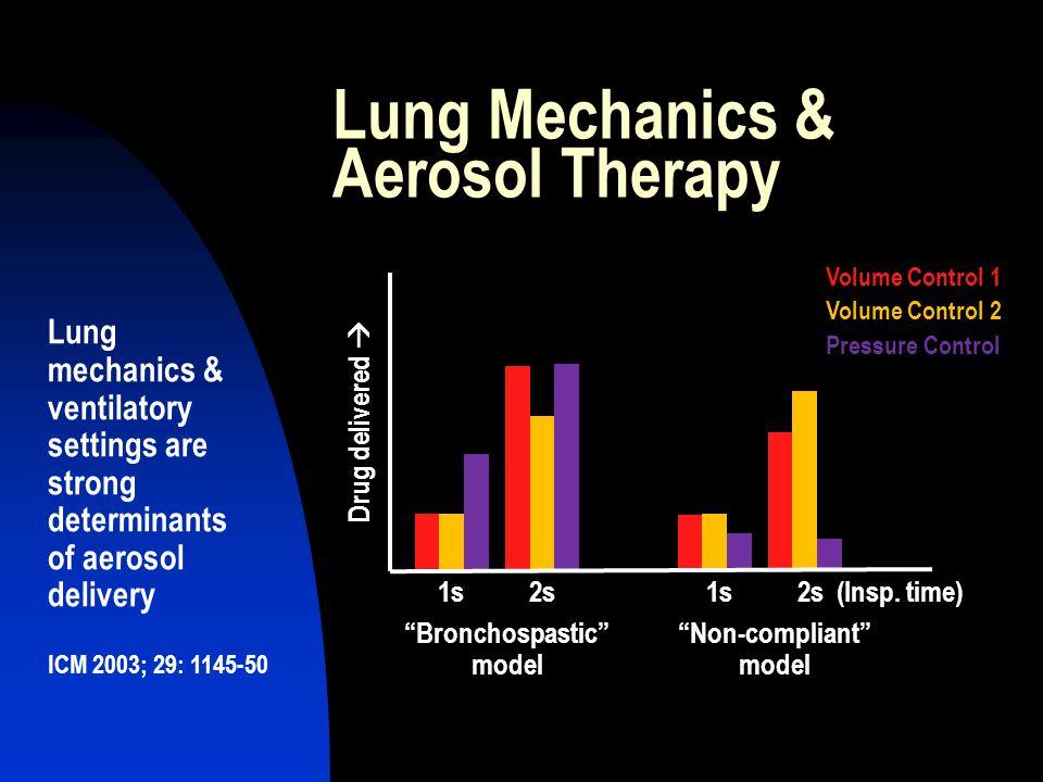 Lung Mechanics & Aerosol Therapy