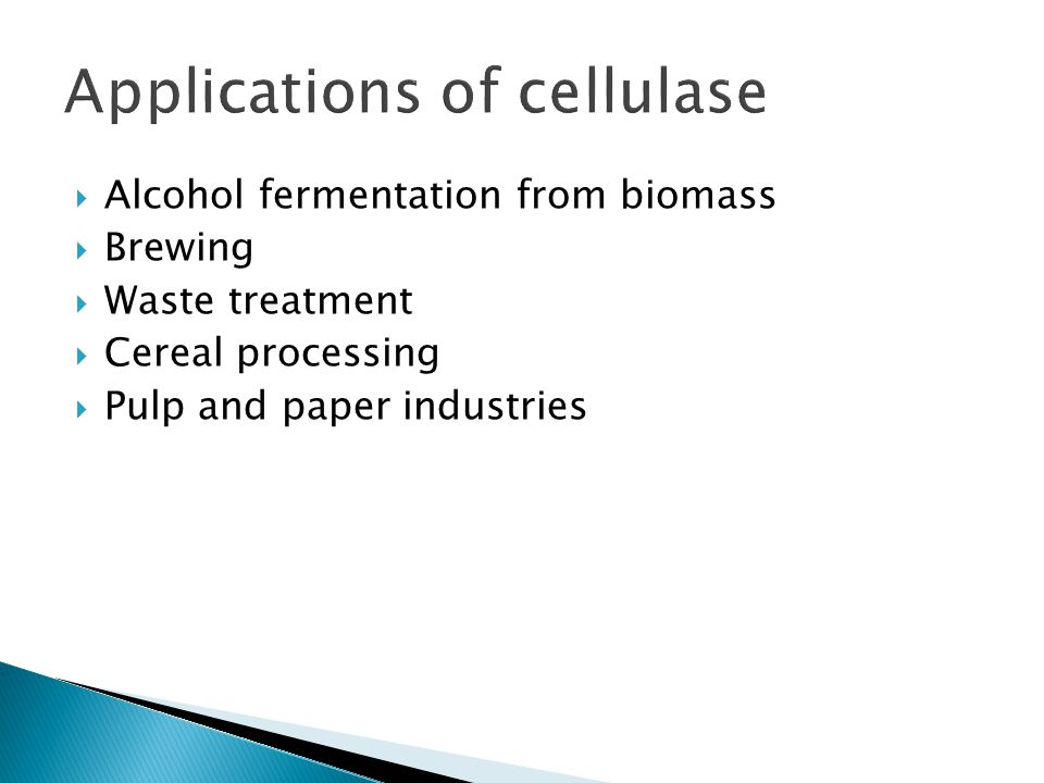 Applications of cellulase
