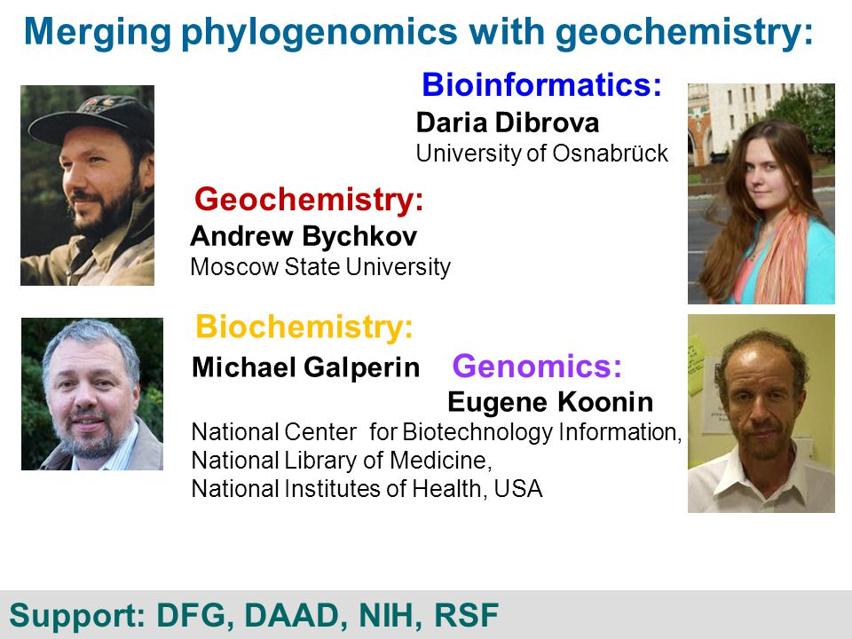 Merging phylogenomics with geochemistry: