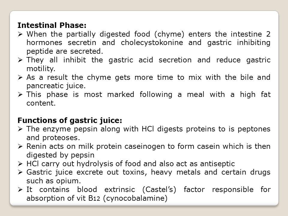 Intestinal Phase: