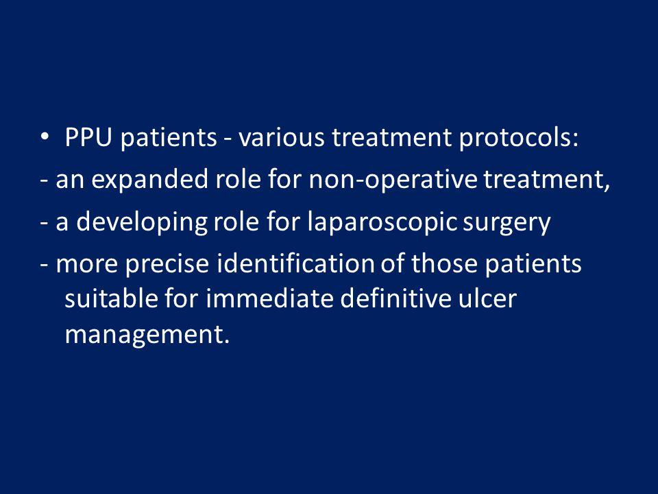 PPU patients - various treatment protocols: