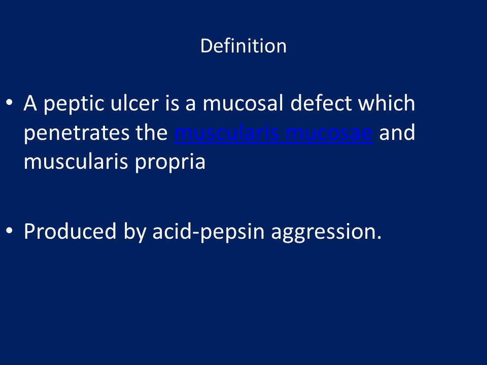 Produced by acid-pepsin aggression.