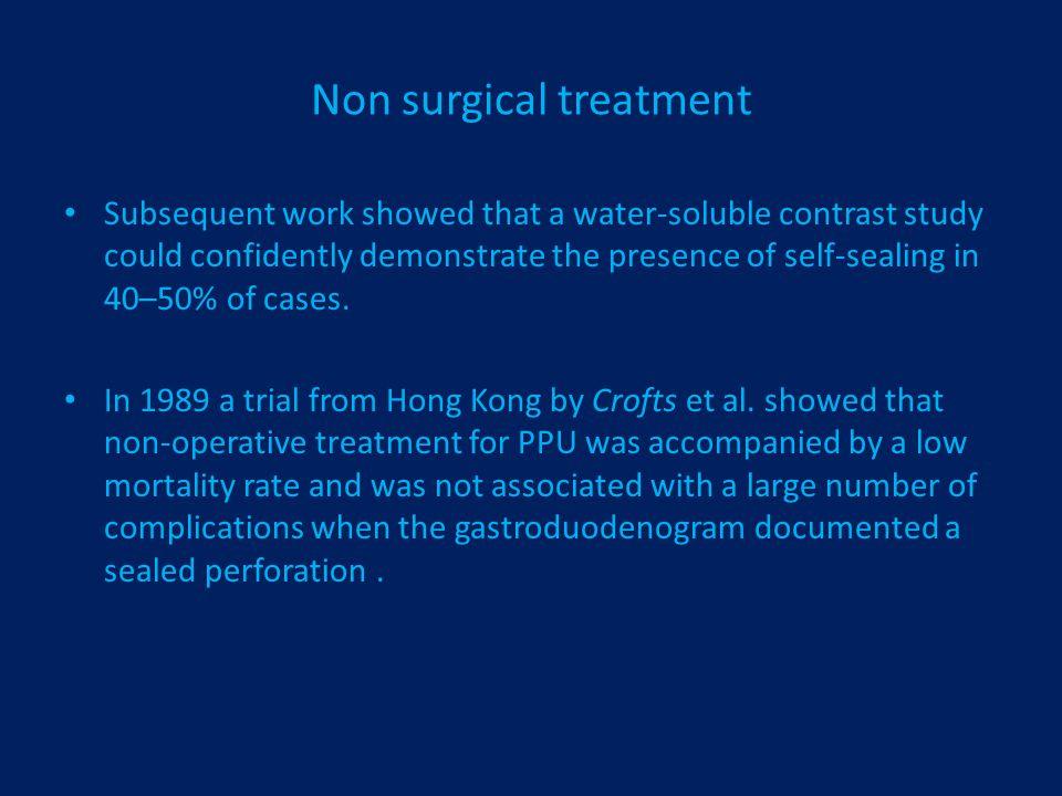 Non surgical treatment