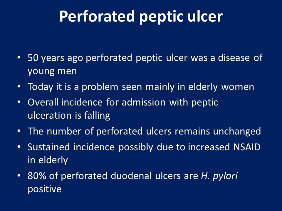Perforated peptic ulcer