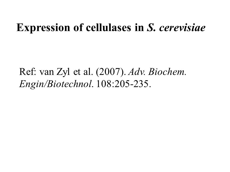 Expression of cellulases in S. cerevisiae
