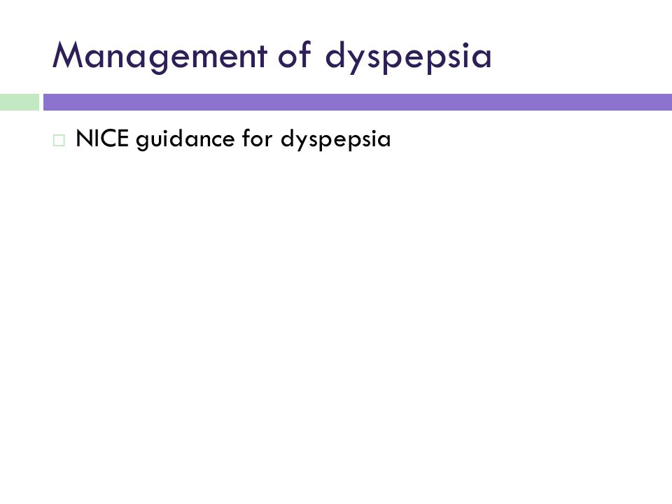 Management of dyspepsia