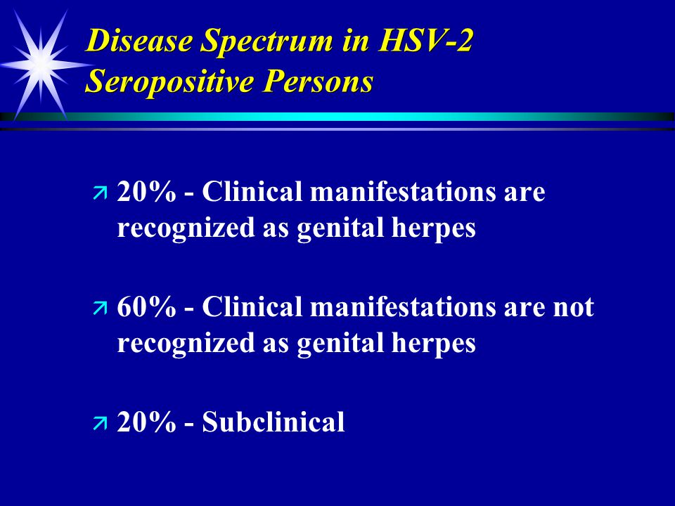 Disease Spectrum in HSV-2 Seropositive Persons