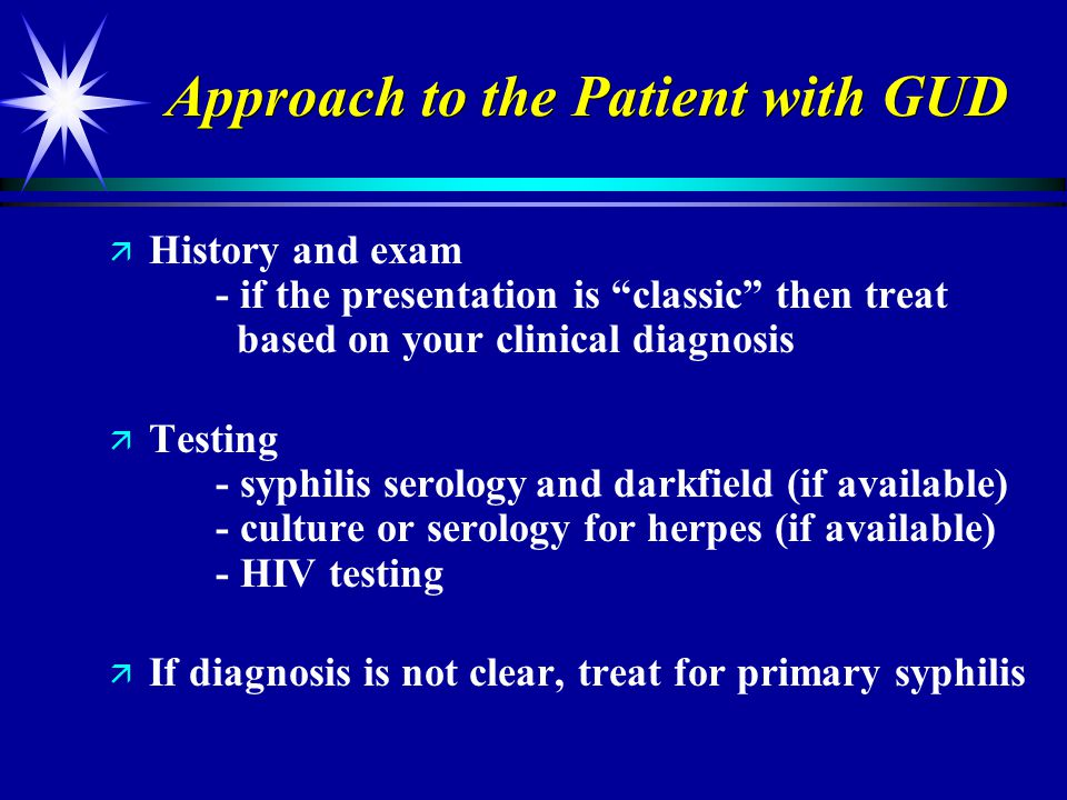 Approach to the Patient with GUD