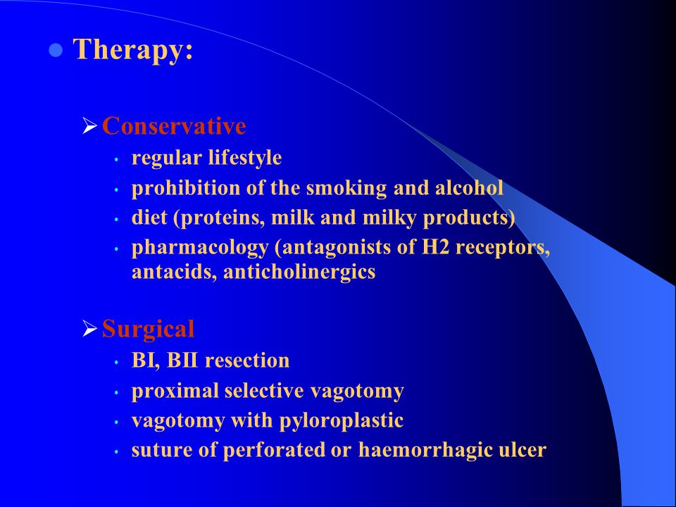 Therapy: Conservative Surgical regular lifestyle