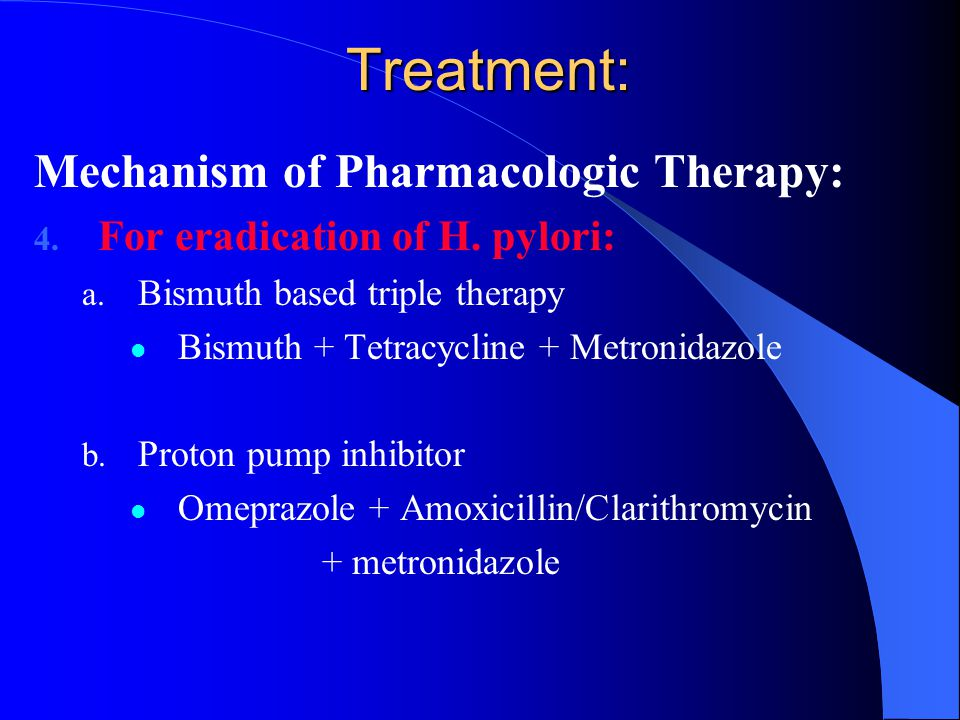 Treatment: Mechanism of Pharmacologic Therapy: