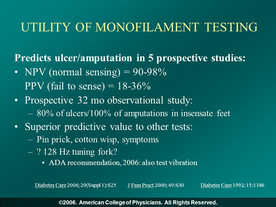 UTILITY OF MONOFILAMENT TESTING