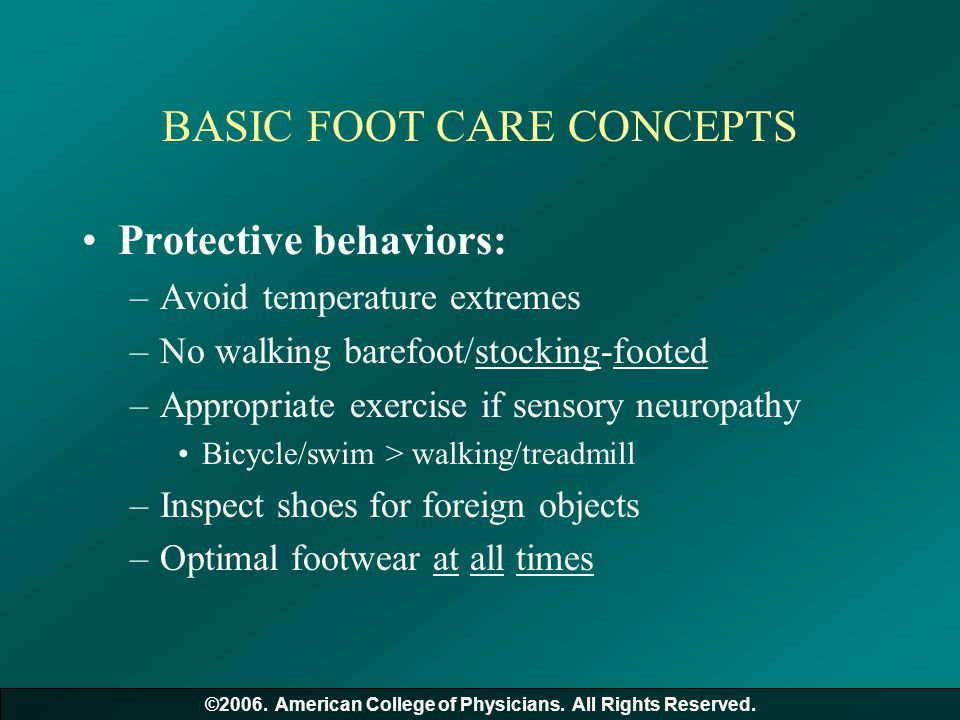 BASIC FOOT CARE CONCEPTS