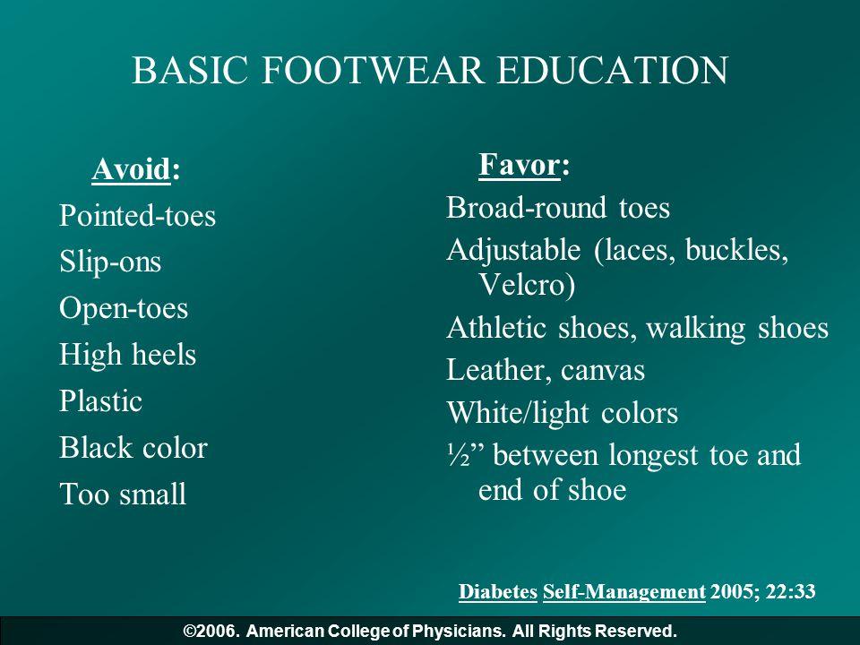 BASIC FOOTWEAR EDUCATION