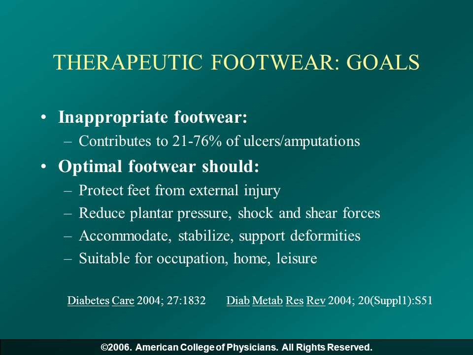 THERAPEUTIC FOOTWEAR: GOALS