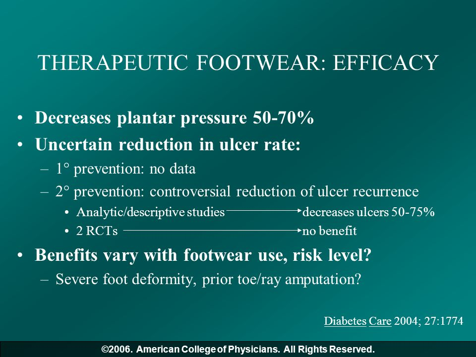 THERAPEUTIC FOOTWEAR: EFFICACY