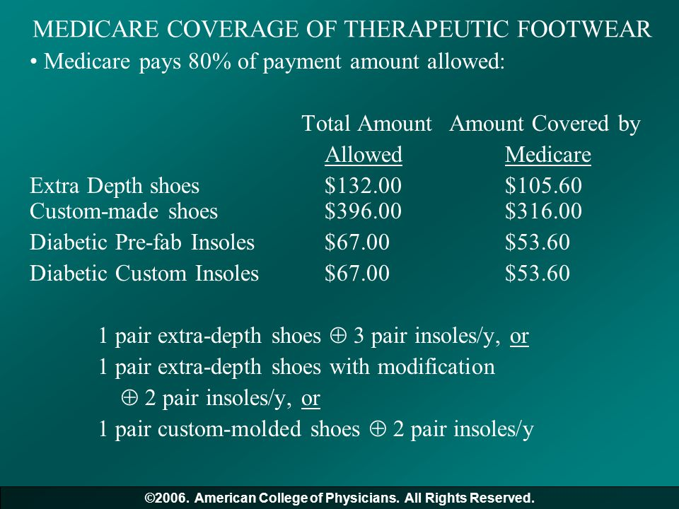 MEDICARE COVERAGE OF THERAPEUTIC FOOTWEAR