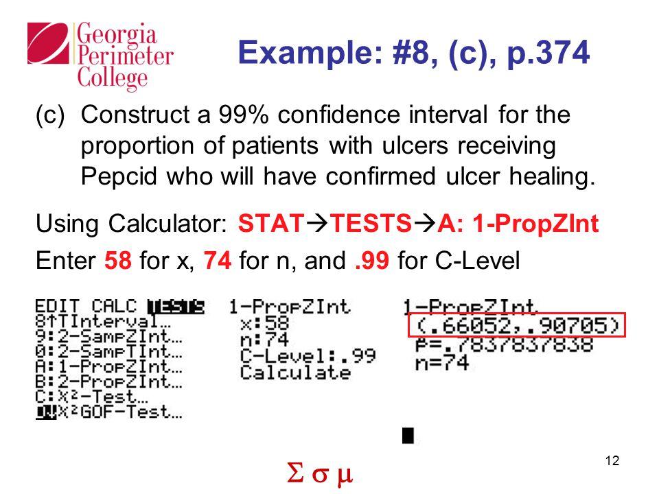 Example: #8, (c), p.374