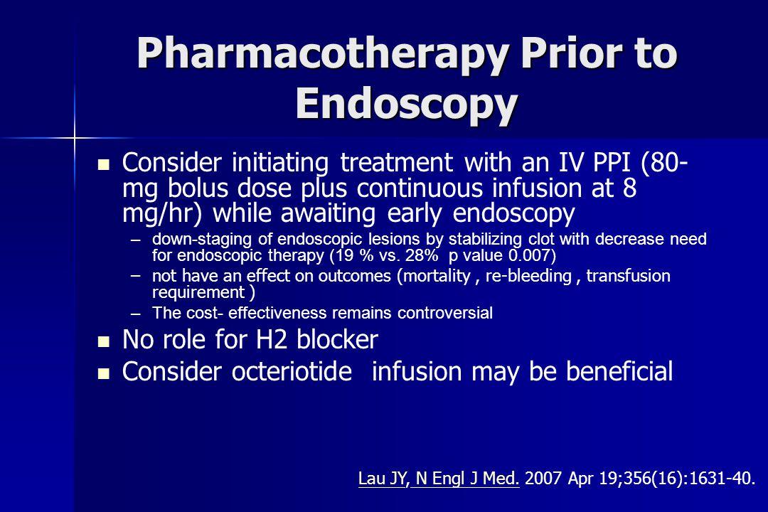 Pharmacotherapy Prior to Endoscopy