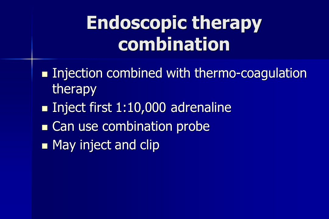 Endoscopic therapy combination
