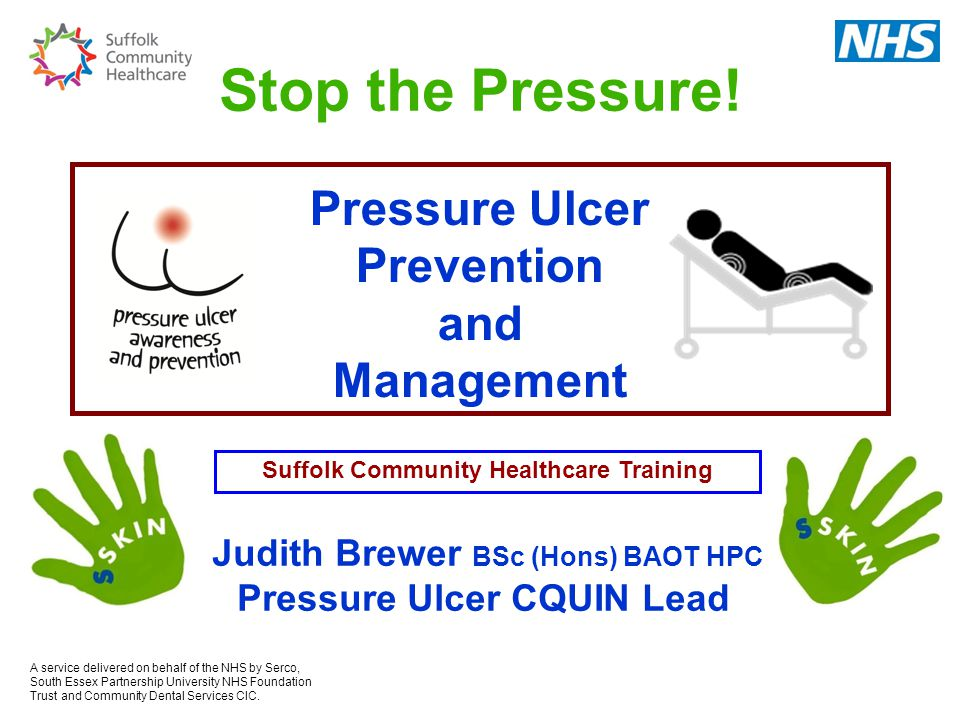 Stop the Pressure! Pressure Ulcer Prevention and Management