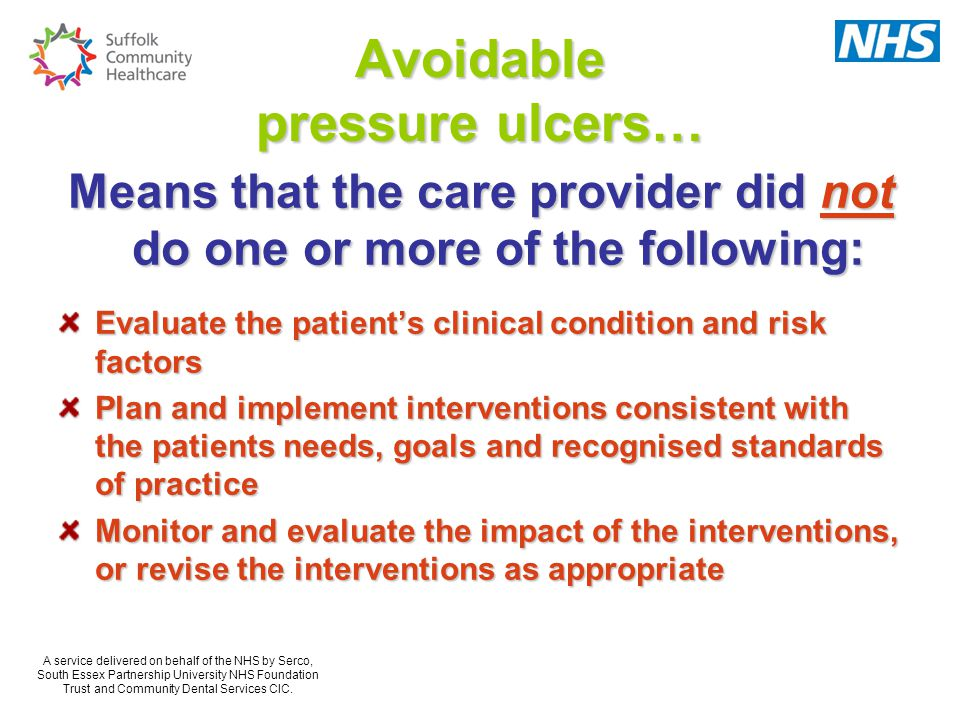 Avoidable pressure ulcers…