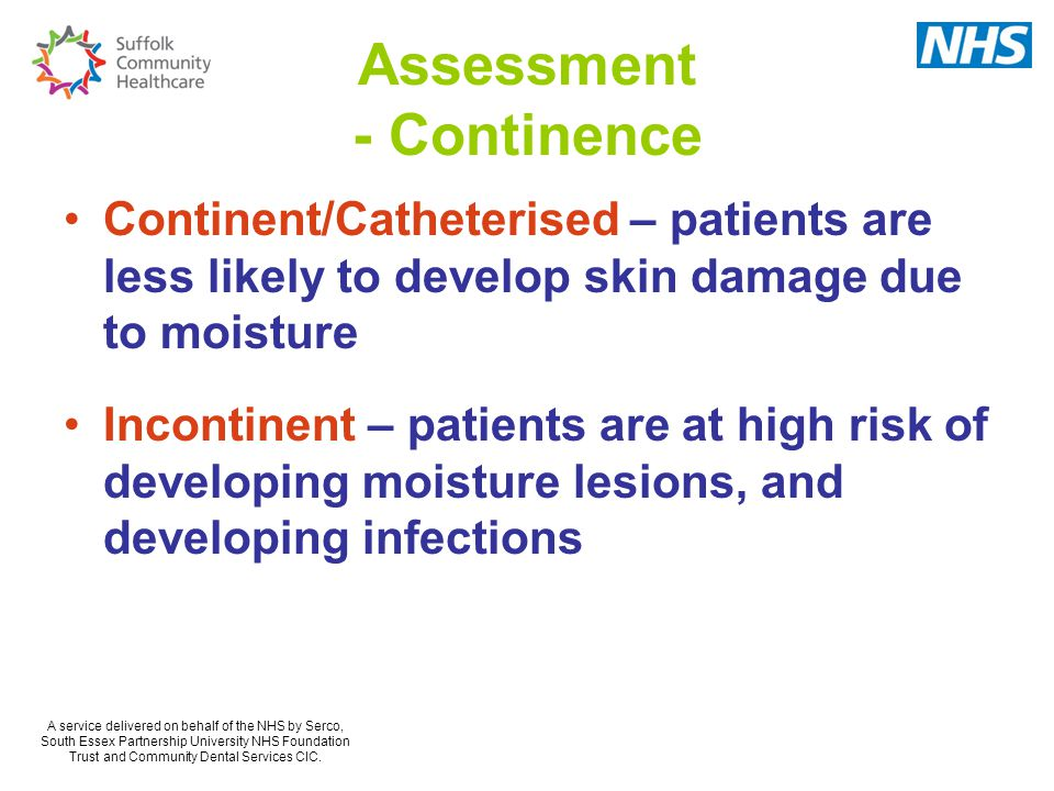 Assessment - Continence