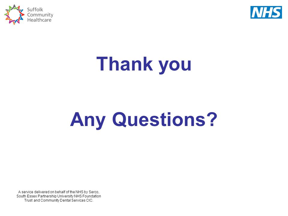 Thank you Any Questions NOTES FOR PRESENTERS SLIDE FOR ALL 65