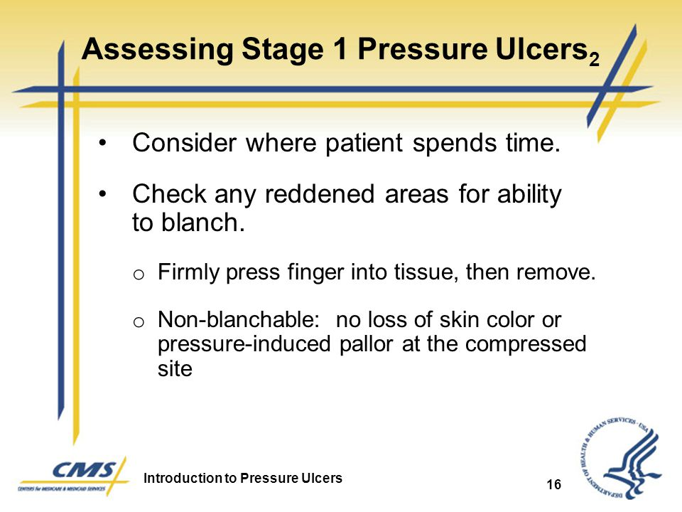 Assessing Stage 1 Pressure Ulcers2