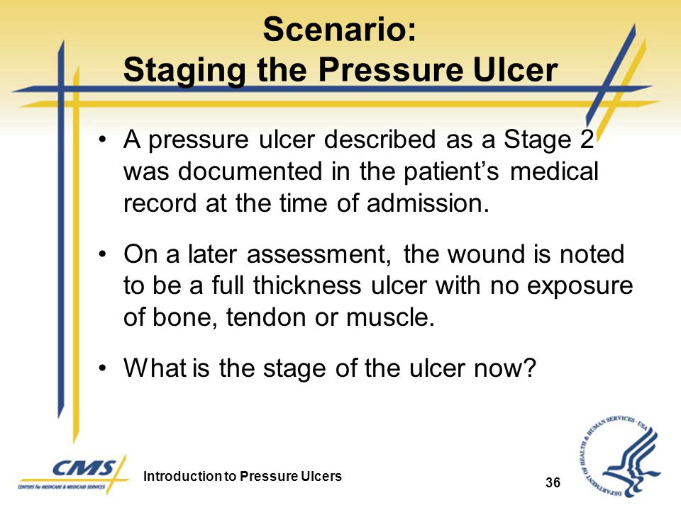 Scenario: Staging the Pressure Ulcer