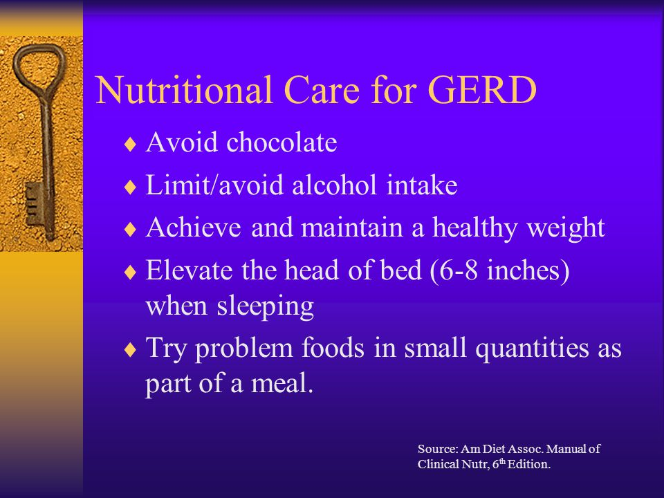 Nutritional Care for GERD