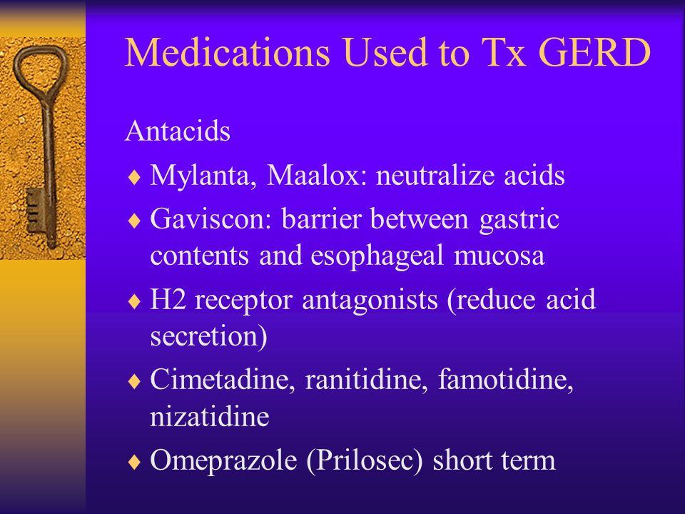 Medications Used to Tx GERD
