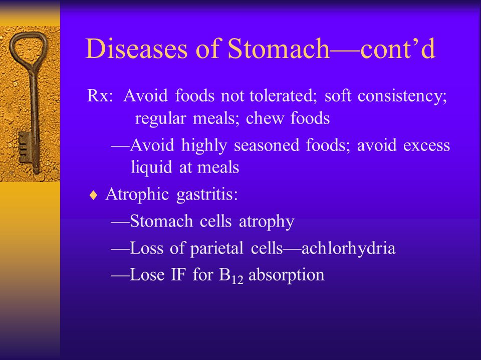 Diseases of Stomach—cont'd