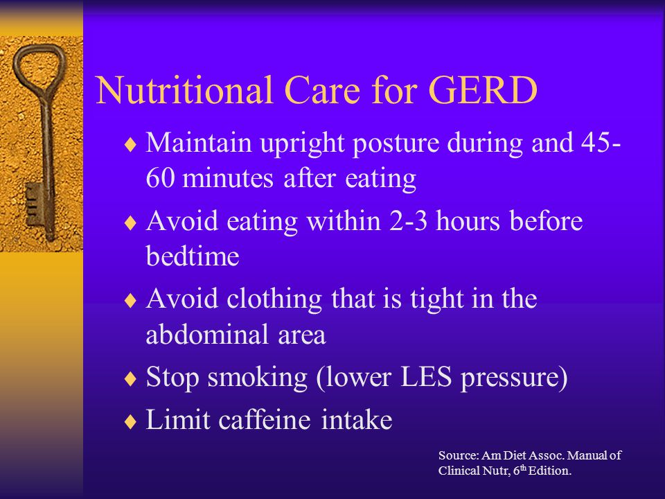 Nutritional Care for GERD