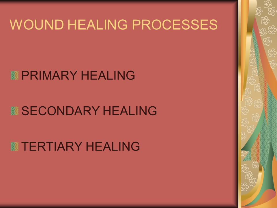 WOUND HEALING PROCESSES