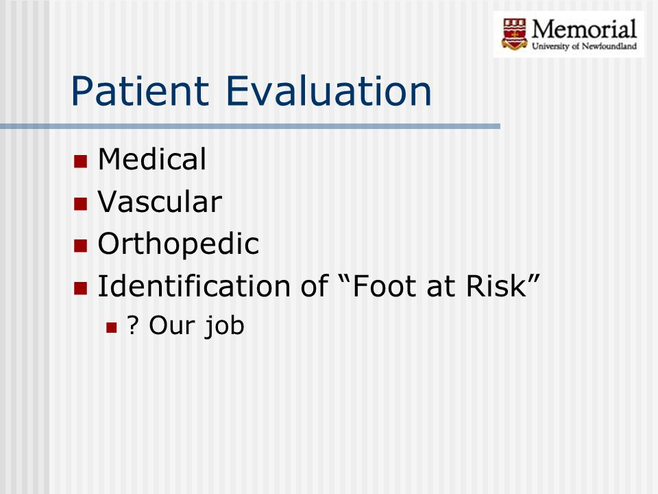 Patient Evaluation Medical Vascular Orthopedic