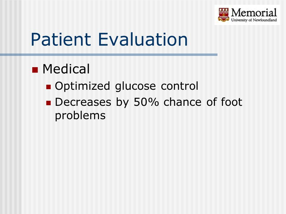 Patient Evaluation Medical Optimized glucose control