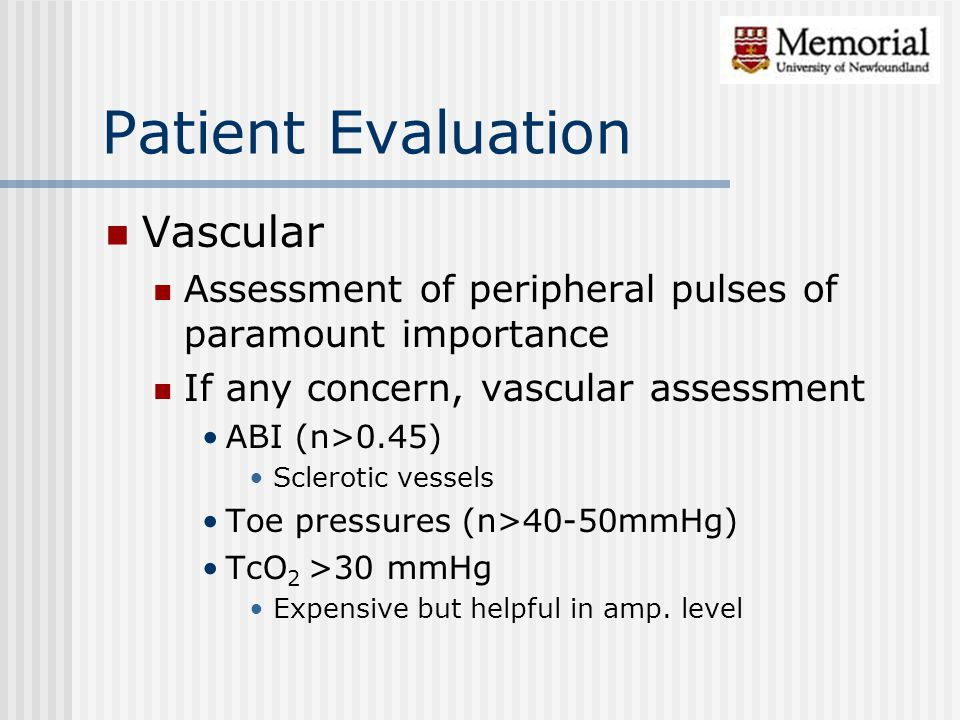 Patient Evaluation Vascular